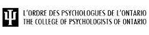 College of Psychologists of Ontario